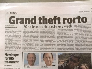 Stolen Cars Shipped Overseas by Criminals